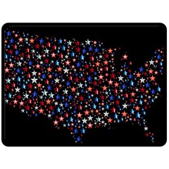 America Usa Map Stars Vector  Double Sided Fleece Blanket (large)  by Simbadda