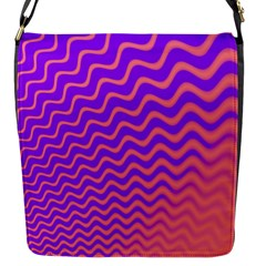 Pink And Purple Flap Messenger Bag (s) by Simbadda