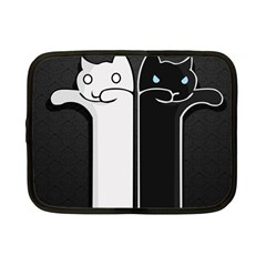 Texture Cats Black White Netbook Case (small)  by Simbadda