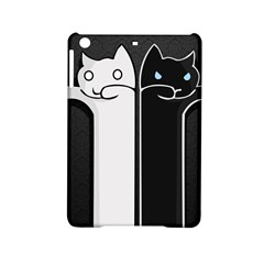 Texture Cats Black White iPad Mini 2 Hardshell Cases by Simbadda