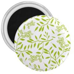 Leaves Pattern Seamless 3  Magnets by Simbadda