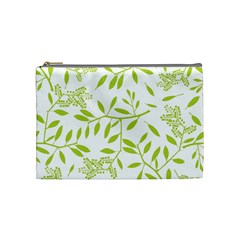 Leaves Pattern Seamless Cosmetic Bag (medium)  by Simbadda