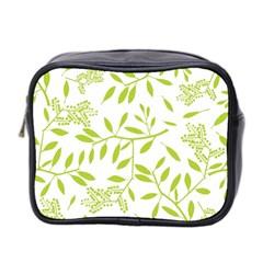 Leaves Pattern Seamless Mini Toiletries Bag 2 Side by Simbadda