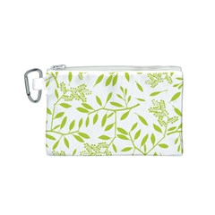Leaves Pattern Seamless Canvas Cosmetic Bag (s) by Simbadda