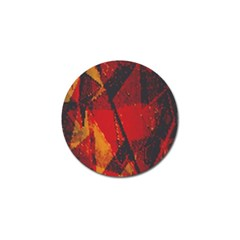 Surface Line Pattern Red Golf Ball Marker by Simbadda