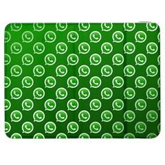 Whatsapp Logo Pattern Samsung Galaxy Tab 7  P1000 Flip Case by Simbadda