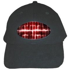 Electric Lines Pattern Black Cap by Simbadda