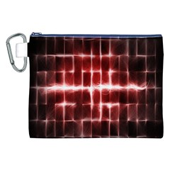Electric Lines Pattern Canvas Cosmetic Bag (xxl) by Simbadda