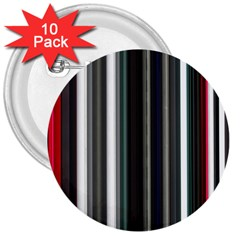 Miracle Mile Pattern 3  Buttons (10 Pack)  by Simbadda