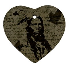 Indian Chief Ornament (heart) by Valentinaart