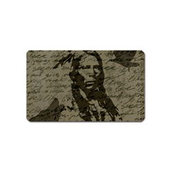 Indian Chief Magnet (name Card) by Valentinaart