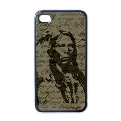 Indian Chief Apple Iphone 4 Case (black) by Valentinaart