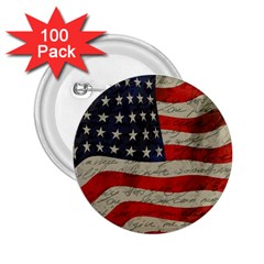 Vintage American Flag 2 25  Buttons (100 Pack)  by Valentinaart
