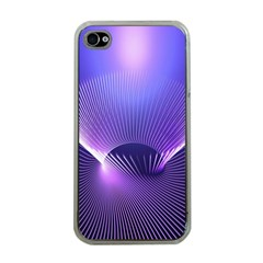 Abstract Fractal 3d Purple Artistic Pattern Line Apple Iphone 4 Case (clear) by Simbadda