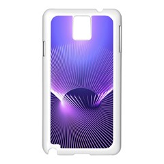 Abstract Fractal 3d Purple Artistic Pattern Line Samsung Galaxy Note 3 N9005 Case (white) by Simbadda