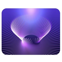 Abstract Fractal 3d Purple Artistic Pattern Line Double Sided Flano Blanket (medium)  by Simbadda