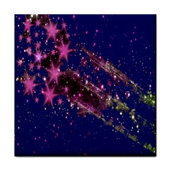 Stars Abstract Shine Spots Lines Tile Coasters by Simbadda