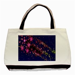 Stars Abstract Shine Spots Lines Basic Tote Bag