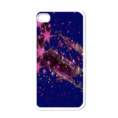 Stars Abstract Shine Spots Lines Apple Iphone 4 Case (white) by Simbadda