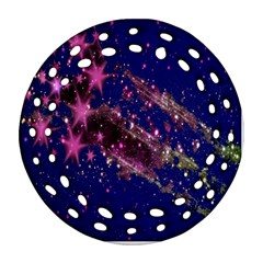 Stars Abstract Shine Spots Lines Round Filigree Ornament (two Sides) by Simbadda