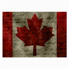 Canada Flag Large Glasses Cloth by Valentinaart