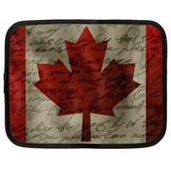 Canada Flag Netbook Case (xl)  by Valentinaart
