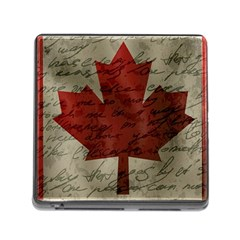 Canada Flag Memory Card Reader (square) by Valentinaart