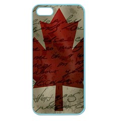 Canada Flag Apple Seamless Iphone 5 Case (color) by Valentinaart