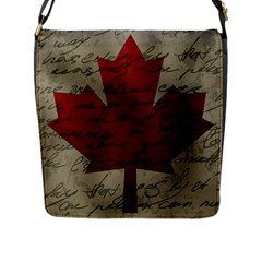 Canada Flag Flap Messenger Bag (l)  by Valentinaart