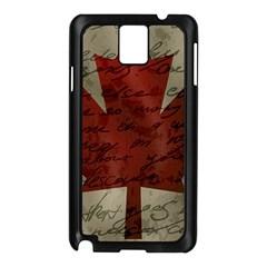 Canada Flag Samsung Galaxy Note 3 N9005 Case (black) by Valentinaart