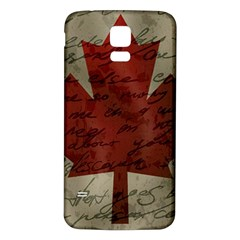 Canada Flag Samsung Galaxy S5 Back Case (white) by Valentinaart