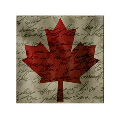 Canada Flag Small Satin Scarf (square) by Valentinaart