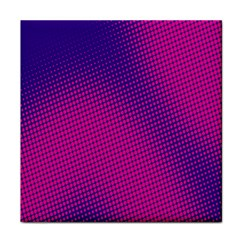 Retro Halftone Pink On Blue Tile Coasters