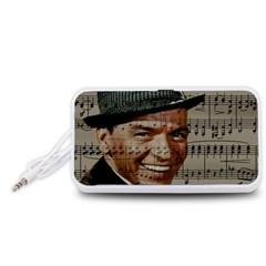 Frank Sinatra  Portable Speaker (white) by Valentinaart