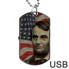 Lincoln Day  Dog Tag Usb Flash (one Side) by Valentinaart