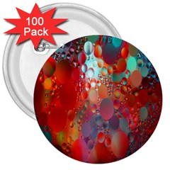 Texture Spots Circles 3  Buttons (100 Pack)  by Simbadda