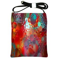 Texture Spots Circles Shoulder Sling Bags by Simbadda