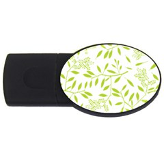 Leaves Pattern Seamless Usb Flash Drive Oval (2 Gb) by Simbadda
