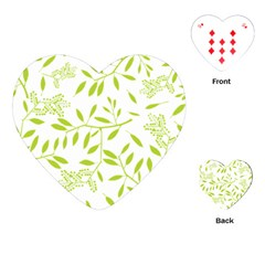 Leaves Pattern Seamless Playing Cards (heart)  by Simbadda