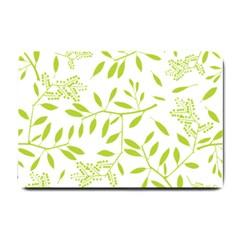 Leaves Pattern Seamless Small Doormat  by Simbadda