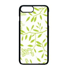 Leaves Pattern Seamless Apple Iphone 7 Plus Seamless Case (black) by Simbadda