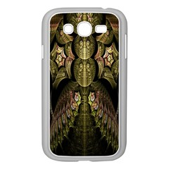 Fractal Abstract Patterns Gold Samsung Galaxy Grand Duos I9082 Case (white) by Simbadda