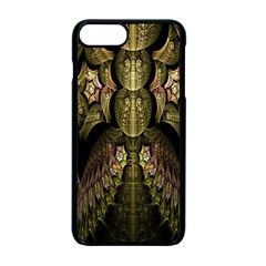 Fractal Abstract Patterns Gold Apple Iphone 7 Plus Seamless Case (black) by Simbadda