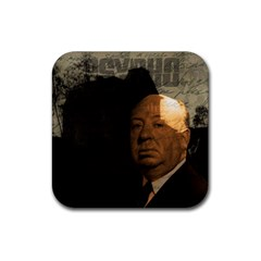 Alfred Hitchcock   Psycho  Rubber Coaster (square)  by Valentinaart
