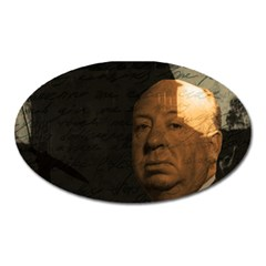 Alfred Hitchcock   Psycho  Oval Magnet by Valentinaart