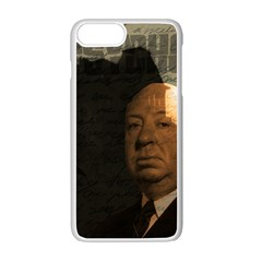 Alfred Hitchcock   Psycho  Apple Iphone 7 Plus White Seamless Case by Valentinaart