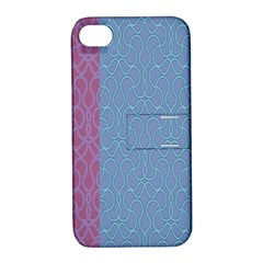Fine Line Pattern Background Vector Apple iPhone 4/4S Hardshell Case with Stand