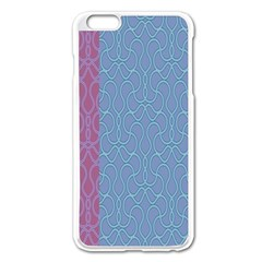 Fine Line Pattern Background Vector Apple Iphone 6 Plus/6s Plus Enamel White Case by Simbadda