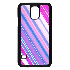 Line Obliquely Pink Samsung Galaxy S5 Case (black) by Simbadda