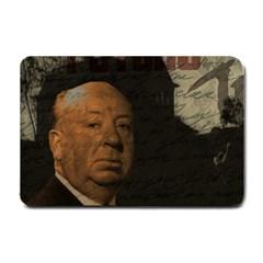 Alfred Hitchcock   Psycho  Small Doormat  by Valentinaart